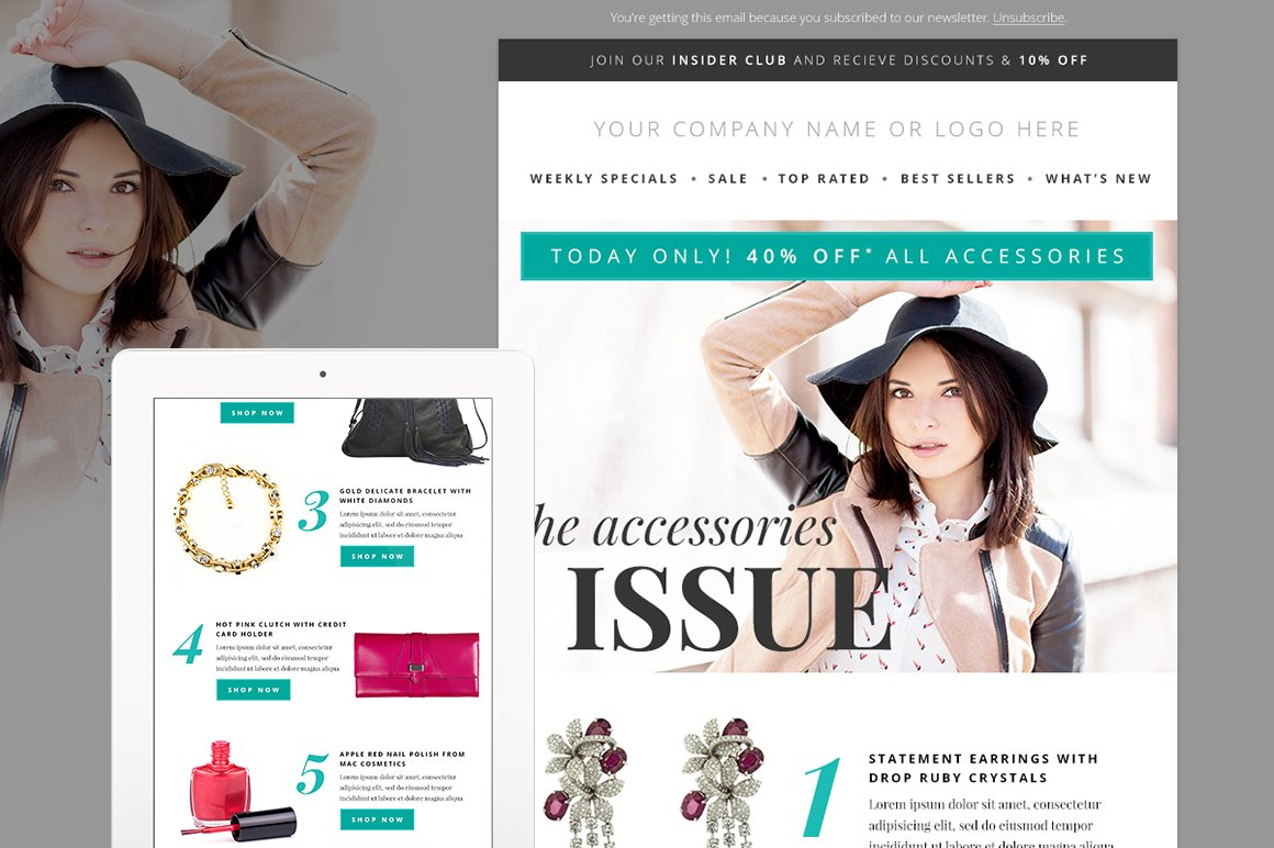 Fashion Newsletter Template Psd Email Templates