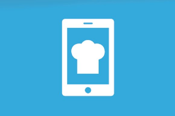 Vector Chef Hat And Phone Logo Combination Kitchen And Mobile Symbol Or Icon Unique Cook And Device Logotype Design Template