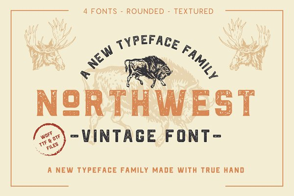 Sans Serif Fonts: NEWFLIX.Bro - The Northwest - Vintage Type Family