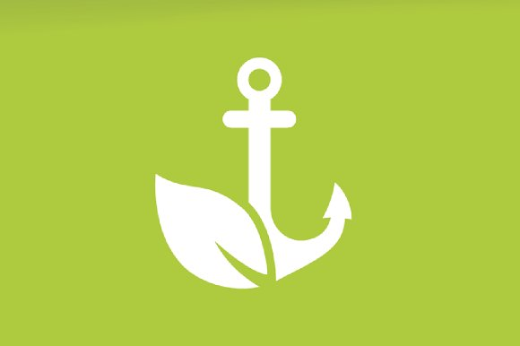 Vector Anchor And Leaf Logo Combination Marine And Eco Symbol Or Icon Unique Navy And Organic Logotype Design Template
