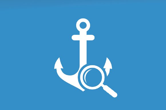 Vector Anchor And Loupe Logo Combination Marine And Magnifying Symbol Or Icon Unique Navy And Search Logotype Design Template