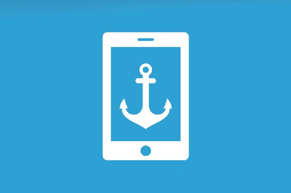 Vector Anchor And Phone Logo Combination Marine And Mobile Symbol Or Icon Unique Navy And Device Logotype Design Template