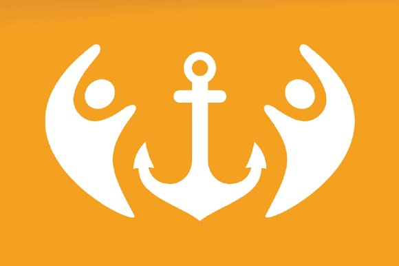 Vector Anchor And People Logo Combination Marine And Family Symbol Or Icon Unique Navy And Union Help Connect Team Logotype Design Template