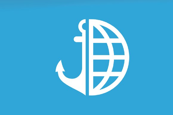 Vector Anchor And Planet Logo Combination Marine And World Symbol Or Icon Unique Navy And Globe Logotype Design Template