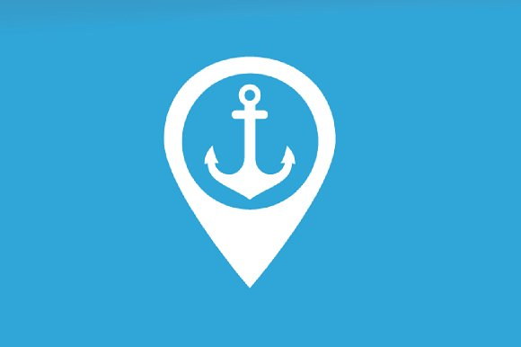Vector Anchor And Map Pointer Logo Combination Marine And Gps Locator Symbol Or Icon Unique Navy And Pin Logotype Design Template