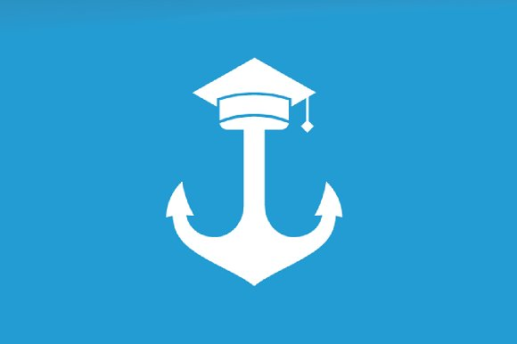 Vector Graduate Hat And Anchor Logo Combination Study And Marine Symbol Or Icon Unique Navy And College Logotype Design Template