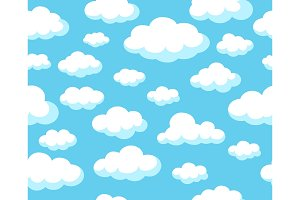 Cartoon sky pattern