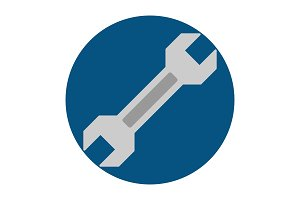 Wrench flat icon
