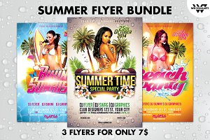 SUMMER BEACH Flyer Bundle