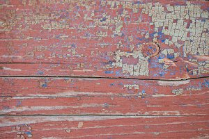 Red wooden texture - background