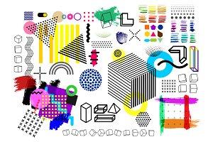 Trend halftone geometric shapes