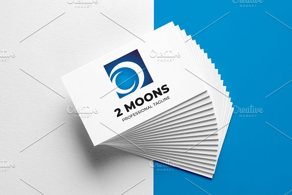 2 Moons Logo Template