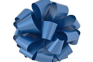 Blue Gift Bow Cutout