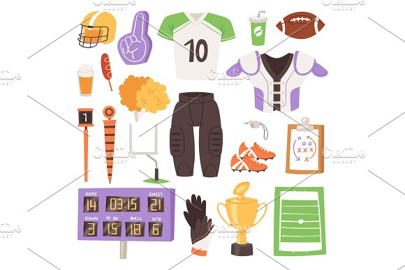 Rugby Vector Rugger Sportswear And Ball For Competition On Stadium Illustration Set Of Sportsman Clothes In Rugby League Isolated On White Background