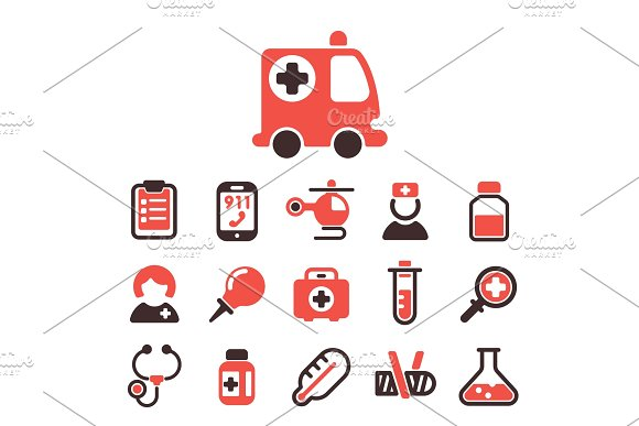 Health Medical Emergency Vector Icons Healthcare Medication Drug Laboratory Science Chemical Capsule