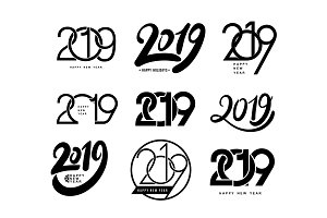 2019 text design pattern.