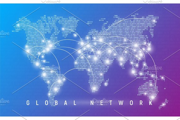 Global Network Worldwide Communication And Connections Interna