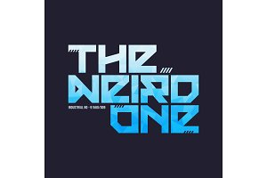 The weird one trendy fashionable vector t-shirt and apparel desi