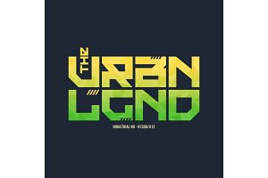 The urban legend trendy fashionable vector t-shirt and apparel d