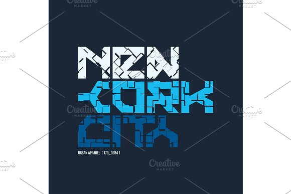 New York City Styled Vector T-shirt And Apparel Design Typograp