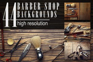 Barber shop wooden backgrounds JPG