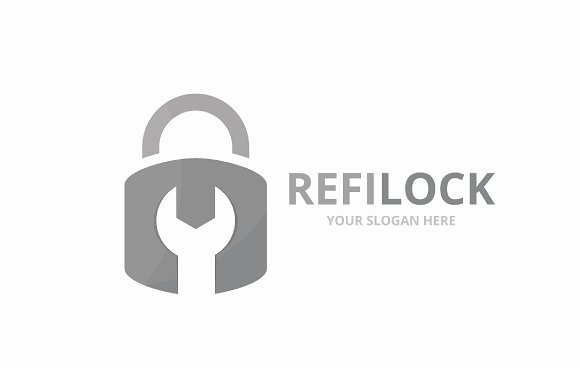 Vector Lock Logo Combination Safe And Repair Symbol Or Icon Unique Padlock And Fix Logotype Design Template