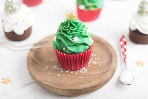 Cupcake tree christmas