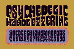 Psychedelic Handlettering