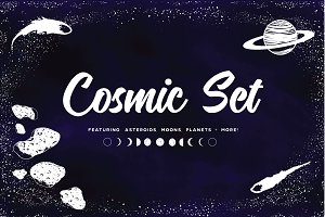 Cosmic Star Set | PNGs & Vectors