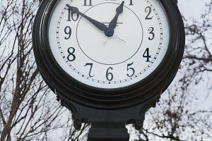 antique town clock