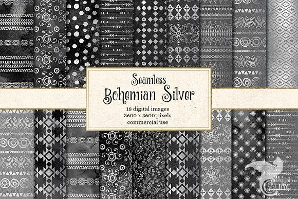 Bohemian Silver Digital Paper