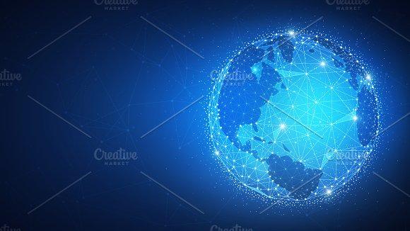 Blockchain Technology Futuristic Hud Banner