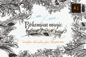 Bohemian magic. Illustrator brushes