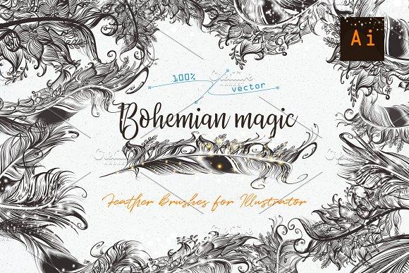 Bohemian Magic Illustrator Brushes