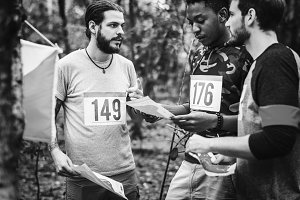 Outdoor orienteering check point act