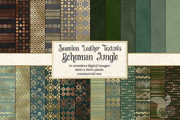 Bohemian Jungle Digital Paper