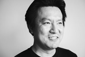 Portrait of a middle aged asian man