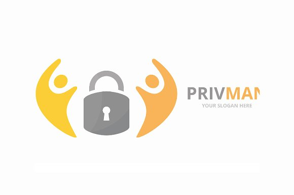 Vector Lock And People Logo Combination Safe And Family Symbol Or Icon Unique Padlock And Union Help Connect Team Logotype Design Template