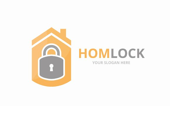 Vector Lock And Real Estate Logo Combination Safe And House Symbol Or Icon Unique Padlock And Rent Logotype Design Template