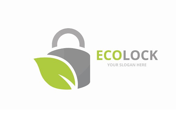 Vector Lock And Leaf Logo Combination Safe And Eco Symbol Or Icon Unique Padlock And Organic Logotype Design Template