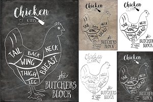 Chicken Butcher Cuts Set 1