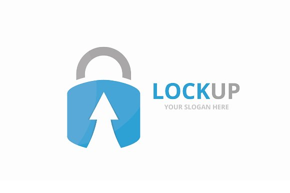 Vector Lock And Arrow Up Logo Combination Safe And Growth Symbol Or Icon Unique Padlock And Upload Logotype Design Template