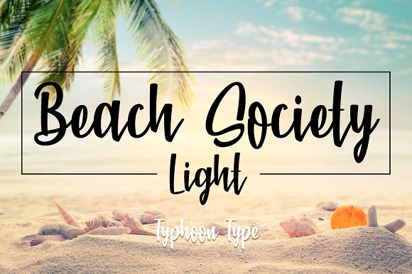 Beach Society Light Font