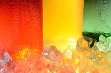 Soda Bottle and Ice Abstract