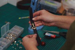Tanner to fasten decorative detail