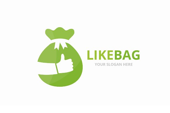 Vector Of Bag And Like Logo Combination Sack And Best Symbol Or Icon Unique Money And Choice Logotype Design Template