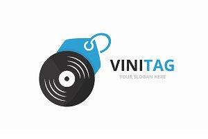 Vector vinyl and tag logo