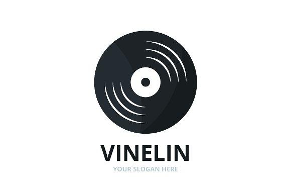 Vector Vinyl Logo Combination Record Symbol Or Icon Unique Music Album Logotype Design Template
