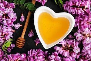 Honey and acacia