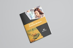 Yellow and Black Bifold Brochure